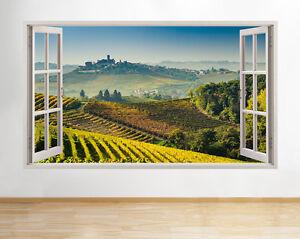 Dettagli su H680 Vigneti Autunno Paesaggio Finestra Adesivi Murali 3D ARTE  Adesivi Vinile Stanza- mostra il titolo originale