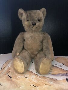 Vintage-Lindee-Toy-Co-Jointed-Teddy-Bear-With-Mohair-21-Tall