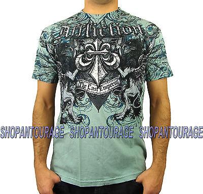 AFFLICTION FEDOR LAST EMPEROR A1462 New Men`s T-shirt Slate Blue