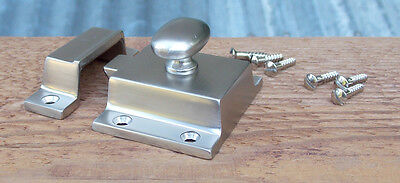 Reproduction Large Solid Brass Cabinet Latch Polished Brass Lacquer Free