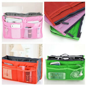 Women-039-s-Travel-Insert-Handbag-Organiser-Purse-Large-Liner-Organizer-Tidy-Bag