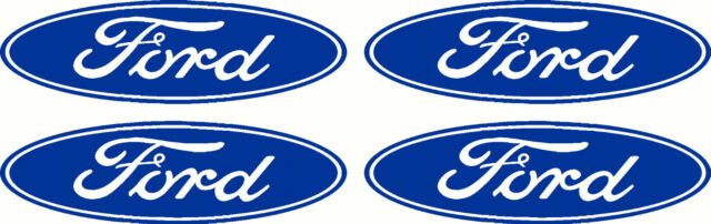 Small Ford Logo 4 Pack Sticker Decals