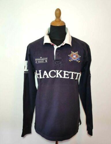 Hackett Polo Shirt Long Sleeve L Black Men Snow Po