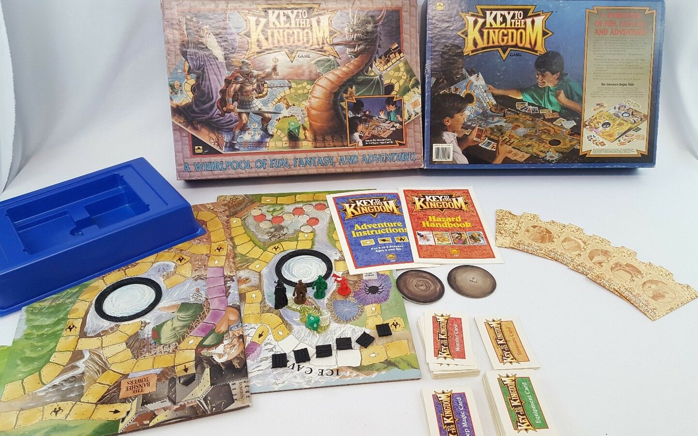 Vintage 1992 Key to the Kingdom Board Game Incomplete