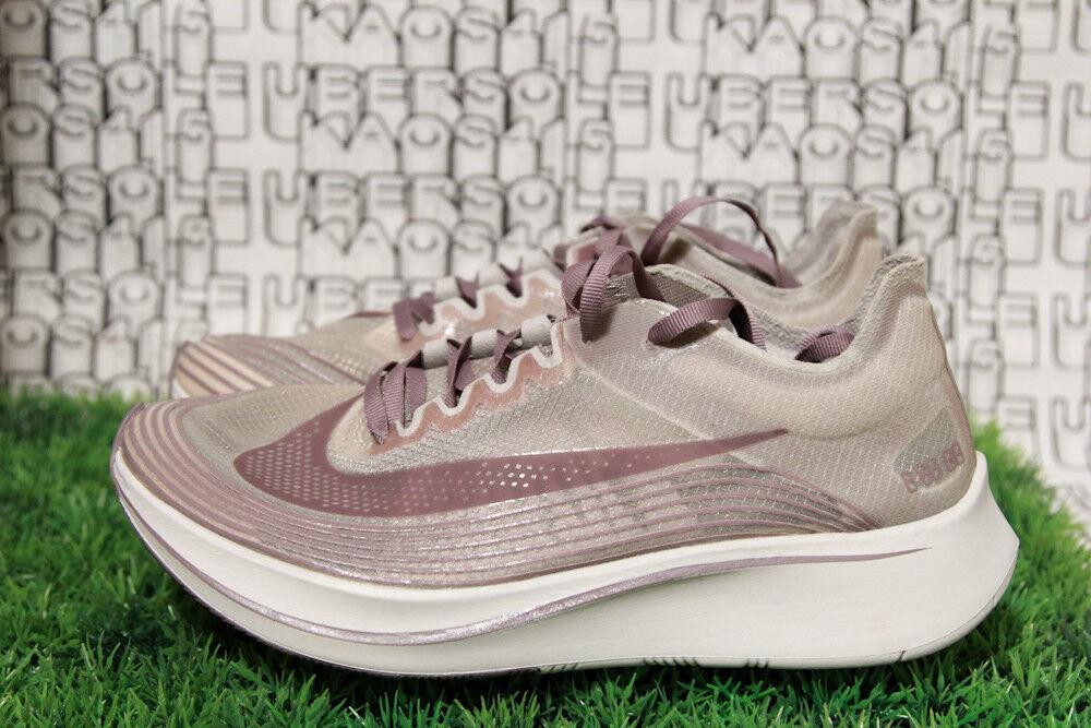 Nike zoom fly sp grigio beige biancastro viola chicago aa3172 200 uomini, donne, 7