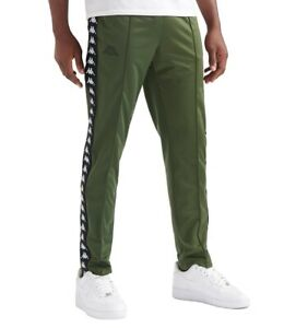Details about Men's Kappa Logo Slim Fit Joggers Tracksuit Jogging Bottoms Track Pants Green