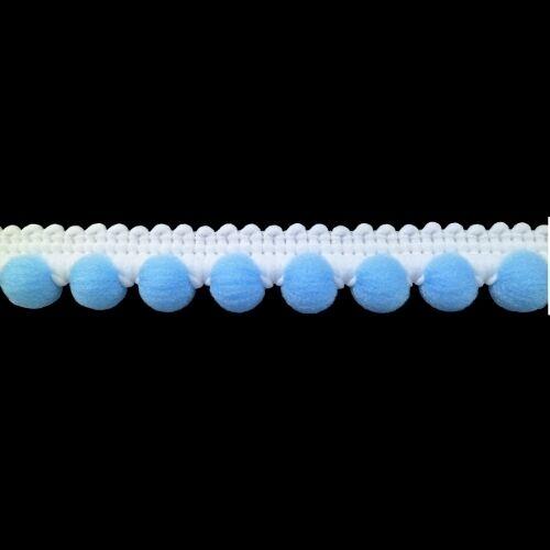Mini pomponband 12 mm Weiss u azul a partir de 0,80 €//m bommelborte pomponborte pompones