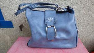 Bleu 70's Simili Voyage Sur De Bag Détails Adidas Cuir Ciel Vintage Sac f67YvIbgym