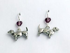 Dachshund Dog Earrings - Sterling Silver XOwPxM