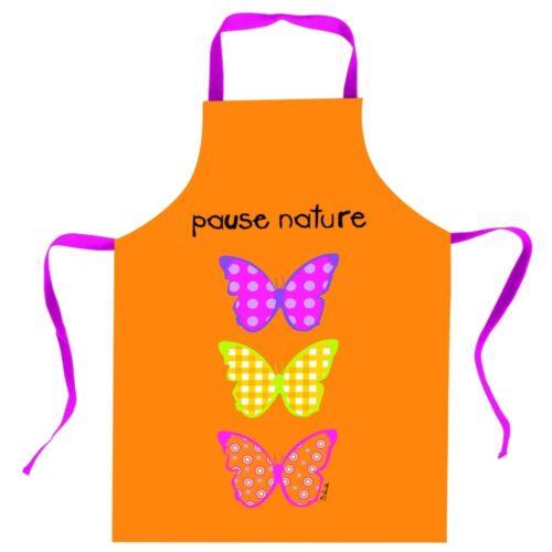 Pause Nature Küchenschürze ca 59 x 84 cm Kochschürze Schürze Schmetterling