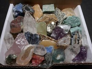 Crafters-Rock-Collection-1-Lb-Mix-Gems-Crystals-Natural-Minerals-Specimens