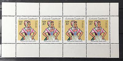 Ehrlichkeit Ddr 1971 Sorbische Mädchen-tanztrachten H-blatt 12 Postfrisch Billigverkauf 50% Deutschland Ab 1945