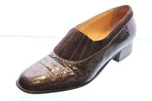 Van-Bommel-Schuhe-Trotteur-Slipper-grau-braun-Lackleder-Vario-Gr-40-UK-6-5