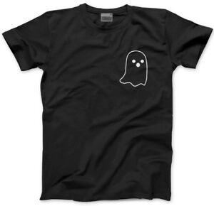 375fe5abe Image is loading Ghost-Pocket-Logo-Cute-Halloween-Witch-Goth-Kids-