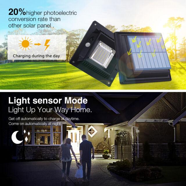 Luxform LED Solarleuchte Gartenleuchte Pollerleuchte mit PIR-Sensor Amiens