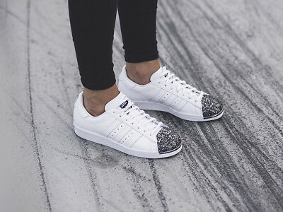 Adidas Originals Femme Superstar 80 S 3D metal toe Trainers White   eBay