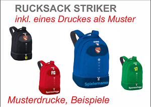 Details Zu Jako Rucksack Striker 1816 Inkl Eines Druckes Muster Fur Ihr Team Bodenfach
