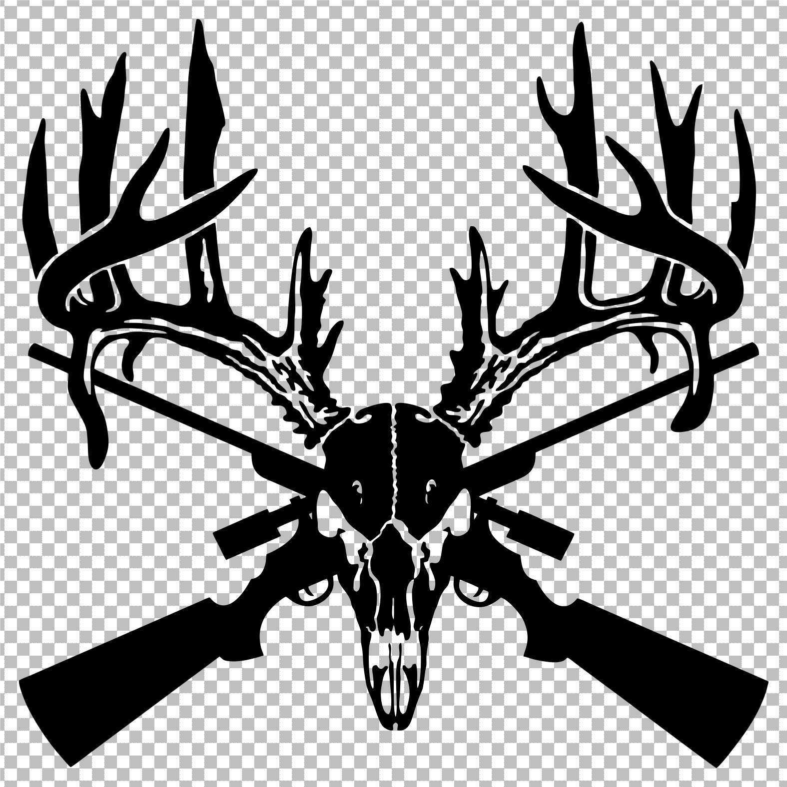 BONE LIFE ~Hunter Hunting Hunt Moose Skull Antlers VINYL DECAL Car Truck Sticker
