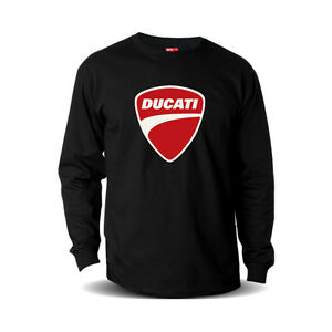 8fe2ca5c2e3 Details about Genuine Official Ducati Red Logo Motorcycle Racing Black Long  Sleeve Tee T-Shirt