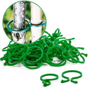 Details about 20/100X Ring Garden Plant Ties Support Clips Flower Bush Vine  Holder Supports