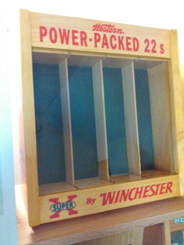 Winchester 22 ammo boxes,shotgun shell boxes blasting cap tins display case.