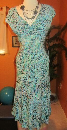 JONES NEW YORK NWT  $119 multi colored long green women/'s dress sleeveless
