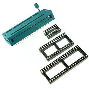 5 Stück Federkontakt IC Fassung IC Sockel DIP DIL 14 pol