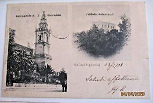 RAGUSA-SICILIA-CAMPANILE-S-GIOVANNI-ISTITUTO-SALESIANO-FP-V1908