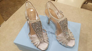 735a6fbd62dd3 Image is loading New-Silver-Antonio-Melani-Nadelle-Platform-Jeweled-Dress-