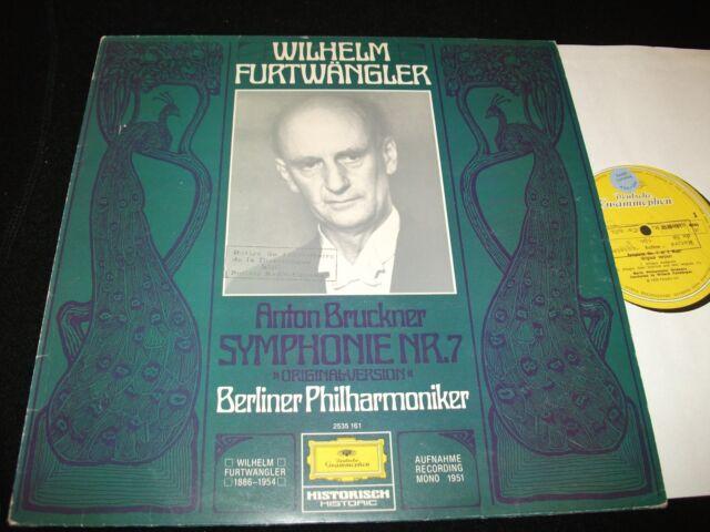 BRUCKNER>°SYMPH. No.7 <>WILHEM FURTWANGLER<>Lp VINYL~UK Press~DGG 2535 161