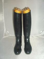 ***VINTAGE LONG RIDING/HUNTING BOOTS, LEATHER, UK SIZE 5- 5.5 NARROW BLACK***