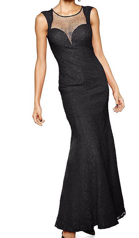 Ashley Brooke Abendkleid   schwarz Spitze Gr. 20 40 Neu