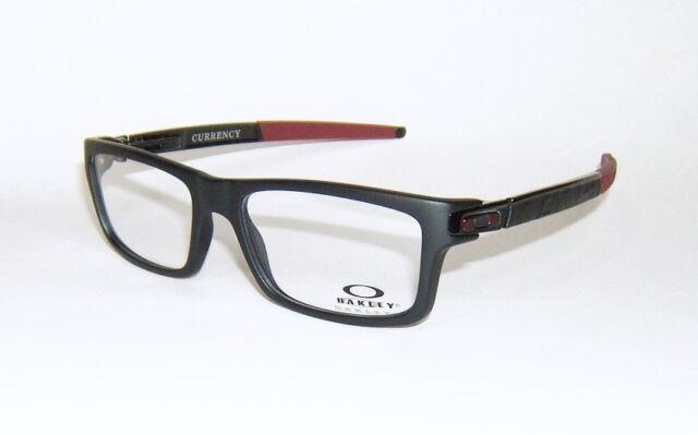 b4273c60df OAKLEY CURRENCY SATIN BLACK CARDINAL RED FRAMES EYE GLASSES OX8026-1254 54  mm