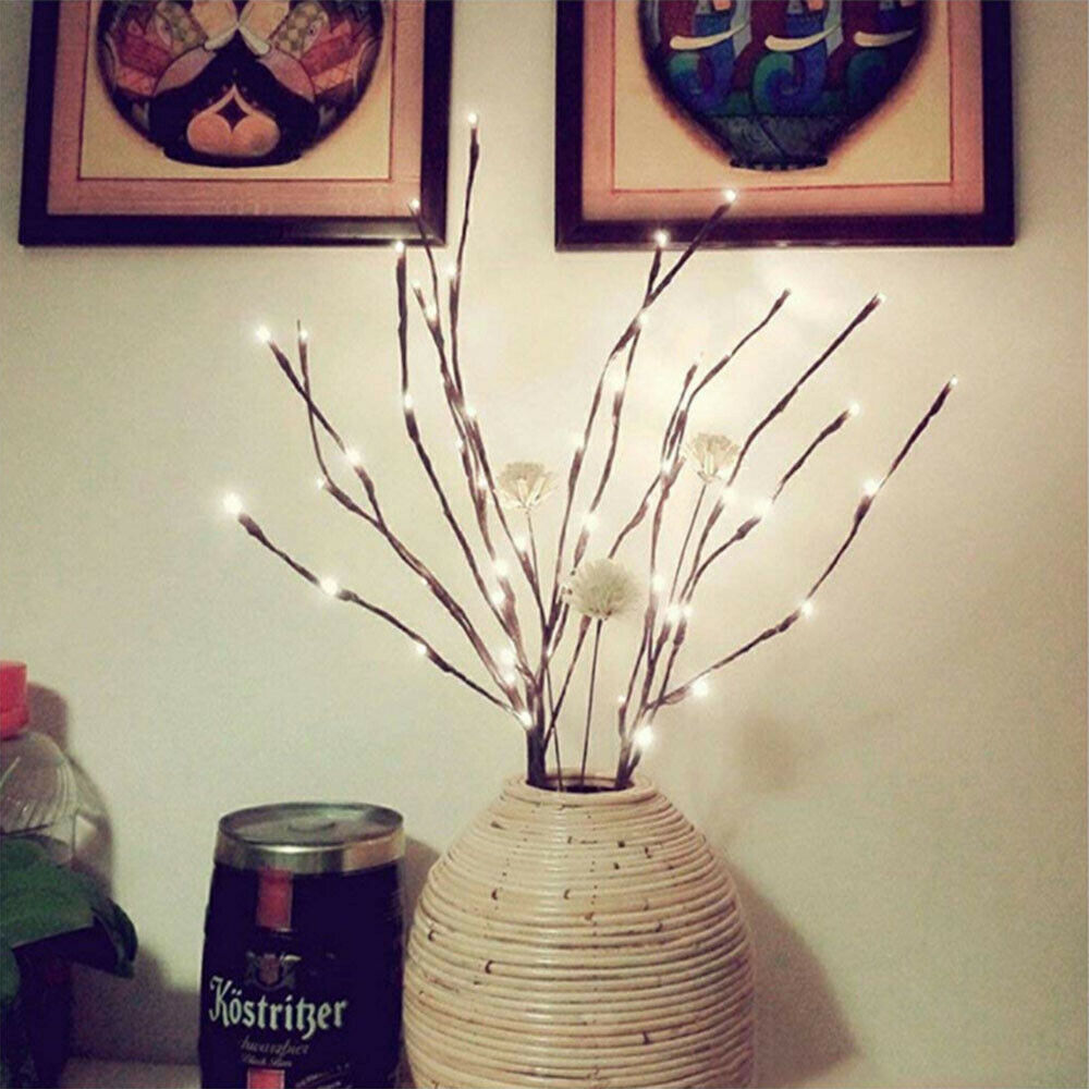 2 Pack Branch Decorative Lights Tall Vase Filler Willow Twig For Home Warm White For Sale Online