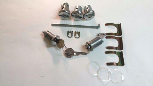1966 Chevy Impala Belair Lock Cylinder Set Ignition Door Trunk Glove Box Keys