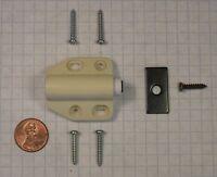 Futaba D-7-ivory Magnetic Push Latch, Plastic, 15mm Throw, For Wood Doors