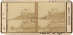 Napoli-Chateau-Dei-Bains-Italia-Stereo-Vintage-Albumina-Ca-1858