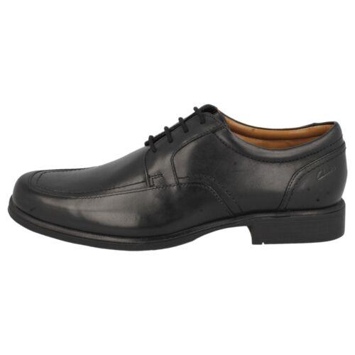 Travail Chic Chaussure Printemps Clarks Hommes Cuir Noir Pour Lacets Huckley BXaqPnUF