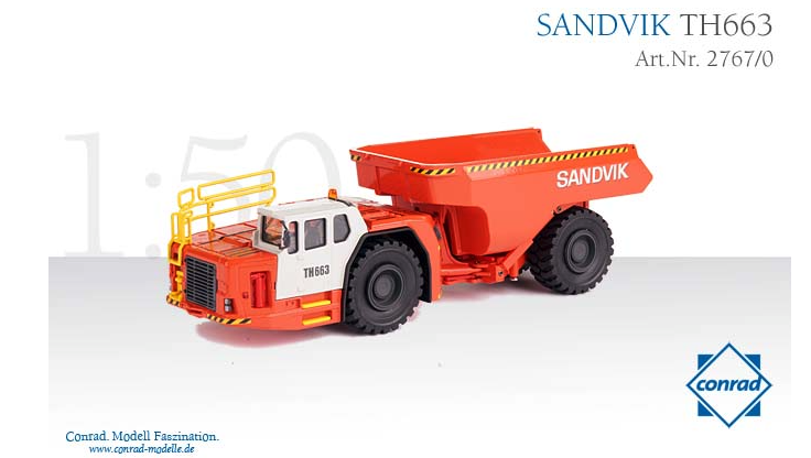CONRAD 1 50 échelle SANDVIK TH663 Dumper 2767 0