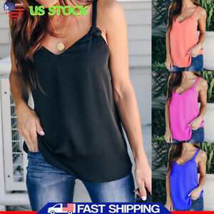 Women-Summer-Strappy-Vest-Top-Sleeveless-Shirt-Blouse-Casual-Tank-Tops-Plus-Size