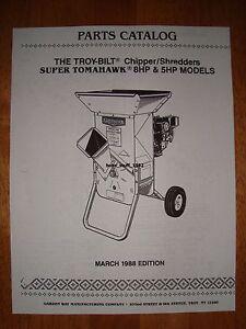 Image Is Loading Emailed Troy Bilt Tomahawk Amp Super Chipper