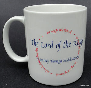 Coffee-Mug-Lord-of-the-Rings-Circle-One-Ring-to-Rule-Journey-Middle-Earth-9oz
