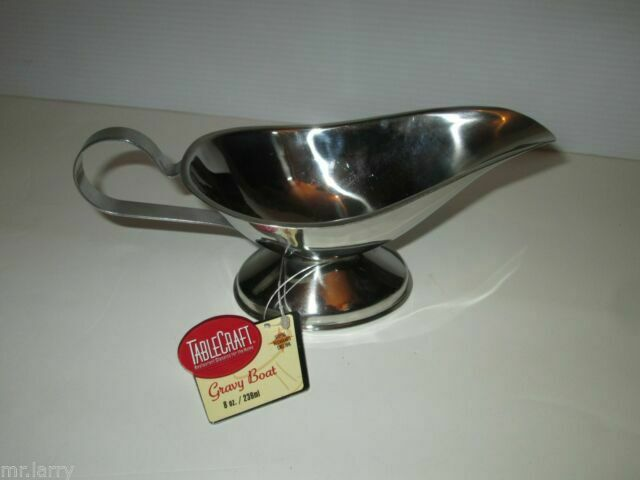 Stainless Steel Royal Industries Gravy Boat Silver 3 oz