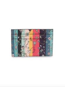 Paul Smith Wallet BNWT Ballon Floral Signature Artist  Stripe Card Holder Case