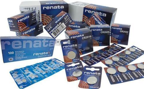 Renata Swiss Made Wristwatch Batteries Mercury Free 357 364 377 395 399 371 370