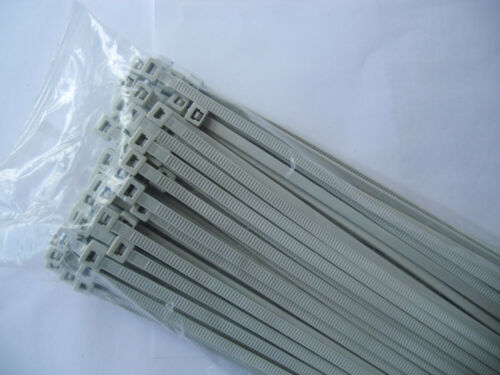 Fascette per cavi 3,6x140 mm in grigio 100 pezzi