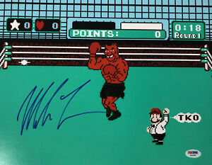 Mike-Tyson-Punch-Out-Signed-11x14-Boxing-Photo-Auto-PSA-DNA-COA