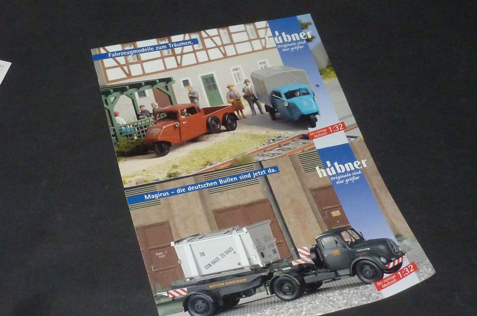 Pista Hübner 1  2 folletos publicidad para para para ritmo hanseat & Magirus mercur 1 32 63e604