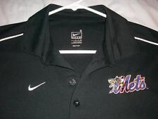 Binghamton New York Mets Bee Logo MLB Nike Black Golf Polo Shirt Men's Small