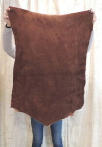 5-7 oz. WHISKEY MOOSE Leather Hide for Native SCA LARP Crafts Moccasins Bags